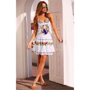 Embroidered beaded Boston Proper halter dress